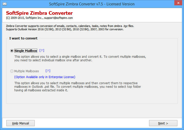 Export Mail from Zimbra to Outlook
